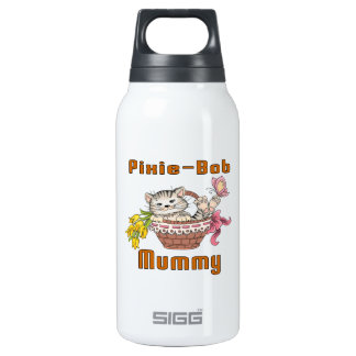 Pixie-Bob Cat Mom Insulated Water Bottle