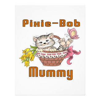 Pixie-Bob Cat Mom Letterhead Design