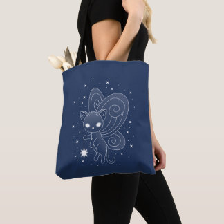 Pixie Cat - Fairy Wings Kitty Tote Bag