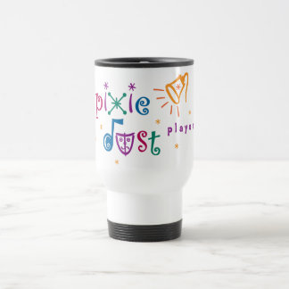Pixie Dust Players White Travel Mug