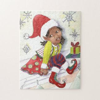 Pixie Elf Girl Christmas puzzle