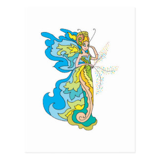 pixie fairy princess postcard