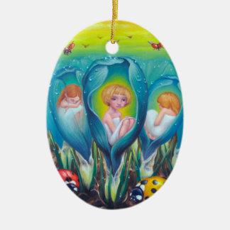 Pixie Farm Ceramic Oval Ornament