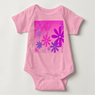Pixie Flower Butterflies 2 Baby Bodysuit