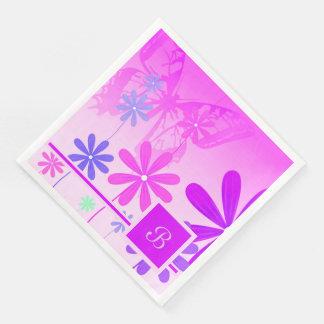 Pixie Flower Butterflies 2 Disposable Napkins