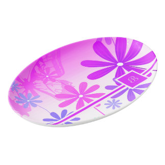 Pixie Flower Butterflies 2 Porcelain Serving Platter