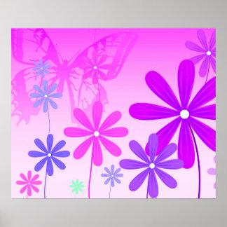 Pixie Flower Butterflies 2 Poster