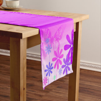 Pixie Flower Butterflies 2 Short Table Runner