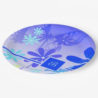 Pixie Flower Butterflies 3 Paper Plate