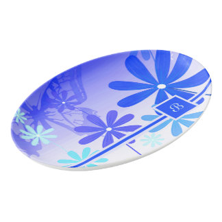 Pixie Flower Butterflies 3 Porcelain Serving Platter