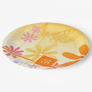 Pixie Flower Butterflies 9 Inch Paper Plate