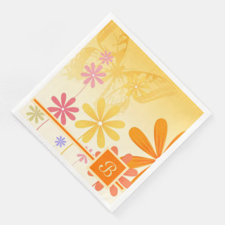 Pixie Flower Butterflies Disposable Napkins