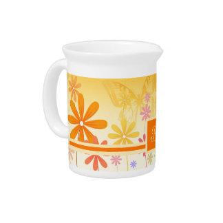 Pixie Flower Butterflies Drink Pitcher