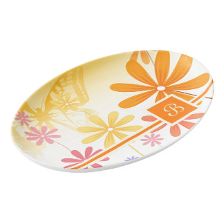 Pixie Flower Butterflies Porcelain Serving Platter