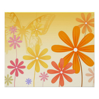 Pixie Flower Butterflies Poster