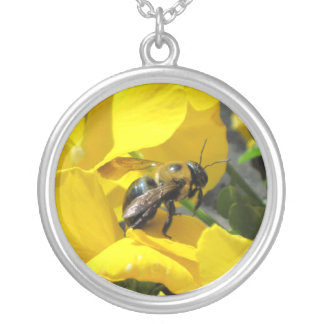 Pixie Globes - Busy as a Bee Silver Plated Necklace