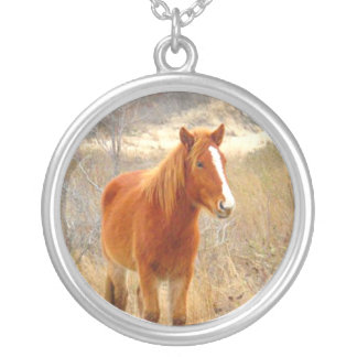 Pixie Globes - Winter Horse necklace