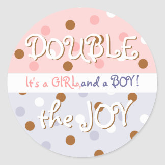 Pixie Polka Dot Twin Baby Sticker