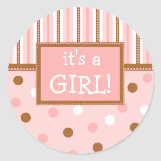 Pixie Polka Dots Classic Round Sticker