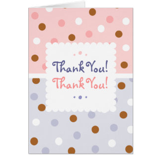 Pixie Polka Dots Twin Thank You Notecard