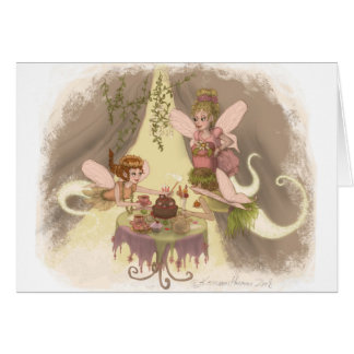 Pixie Tea Party Card