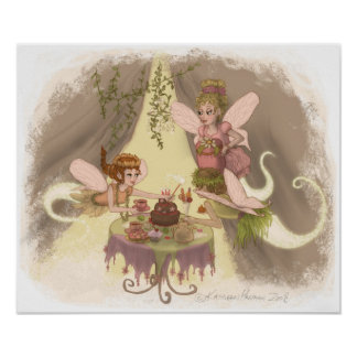 Pixie Tea Party Poster