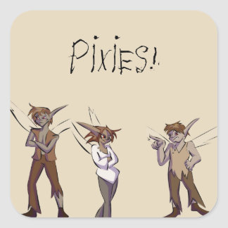 Pixies! Square Sticker
