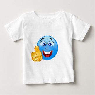 pizap.com thumbs up blue emoji face baby T-Shirt