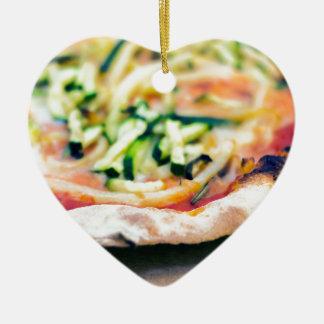 Pizza-12 Ceramic Ornament