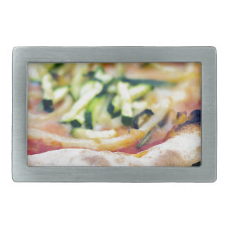 Pizza-12 Rectangular Belt Buckle