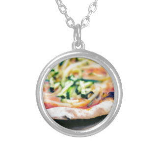 Pizza-12 Silver Plated Necklace