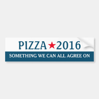 Pizza 2016 Funny Election Bumper Sticker