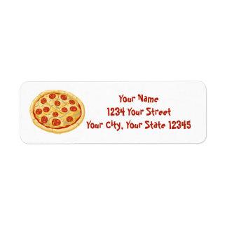 Pizza Address Label