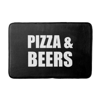 Pizza And Beers Bath Mat