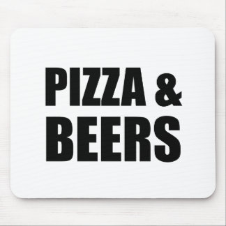 Pizza And Beers Mouse Pad