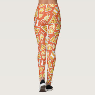 Pizza And Drinks Pattern Leggings