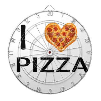 Pizza and love dartboard