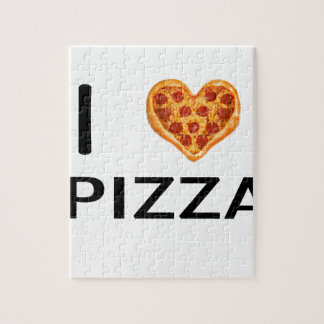 Pizza and love jigsaw puzzle