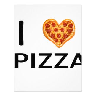Pizza and love letterhead