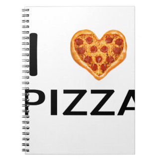 Pizza and love notebooks