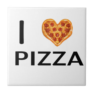 Pizza and love tile