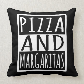 Pizza And Margaritas Throw Pillow