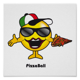Pizza Ball Poster