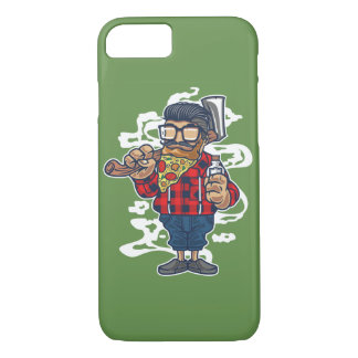 Pizza Beard Glossy Phone Case