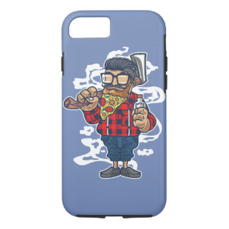 Pizza Beard Tough Phone Case