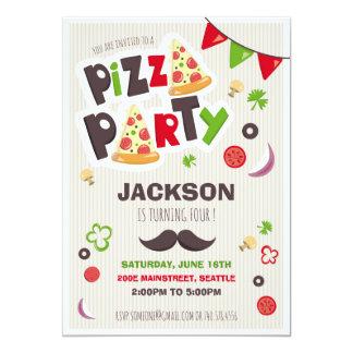 Pizza Birthday Invitation - Pizza Party Invite