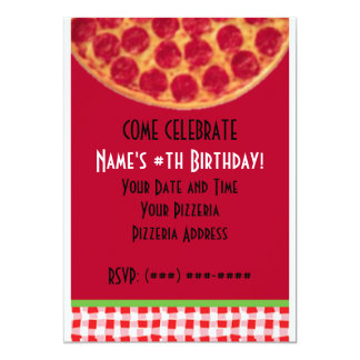 Pizza Birthday Party... Card