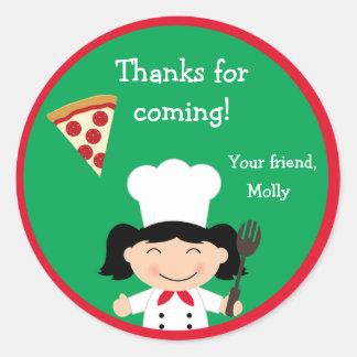 Pizza Birthday Party Sticker