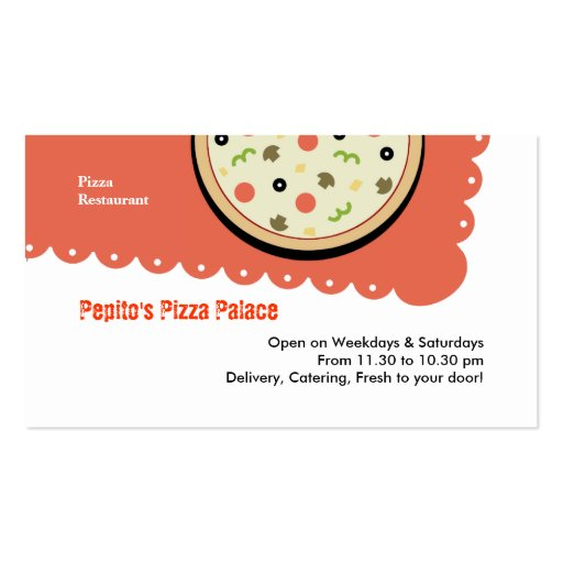 Pizza Business Card Template