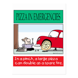 Pizza card-b postcard